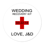 Wedding Hangover Recovery Kit Personalized Sticker Wedding Stickers - INKtropolis