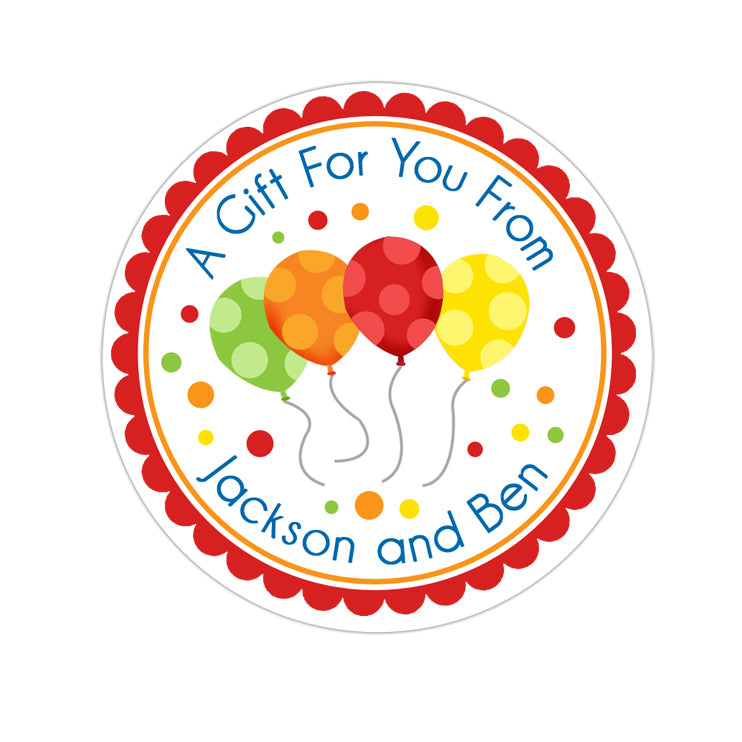 Happy Birthday Balloons Personalized Sticker Birthday Stickers - INKtropolis
