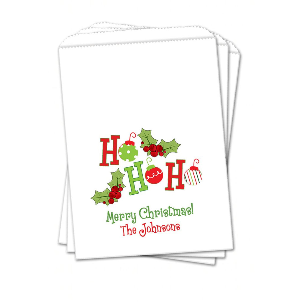 Ho Ho Ho Christmas Favor Bags - Sets of 25 Christmas Favor Bags - INKtropolis