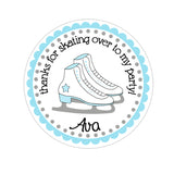 Ice Skates Personalized Sticker Birthday Stickers - INKtropolis