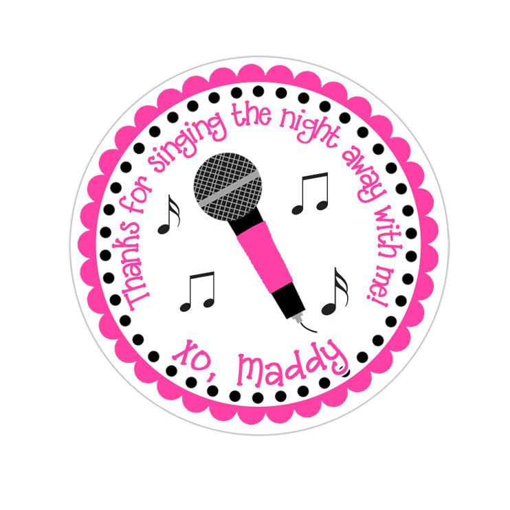 Karaoke Personalized Sticker Birthday Stickers - INKtropolis