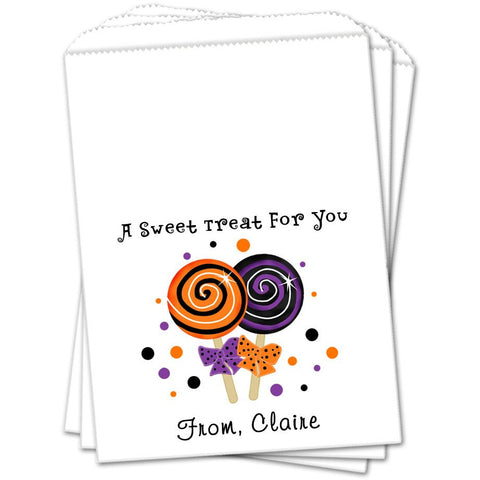 Lollipops Halloween Favor Bags - Sets of 25