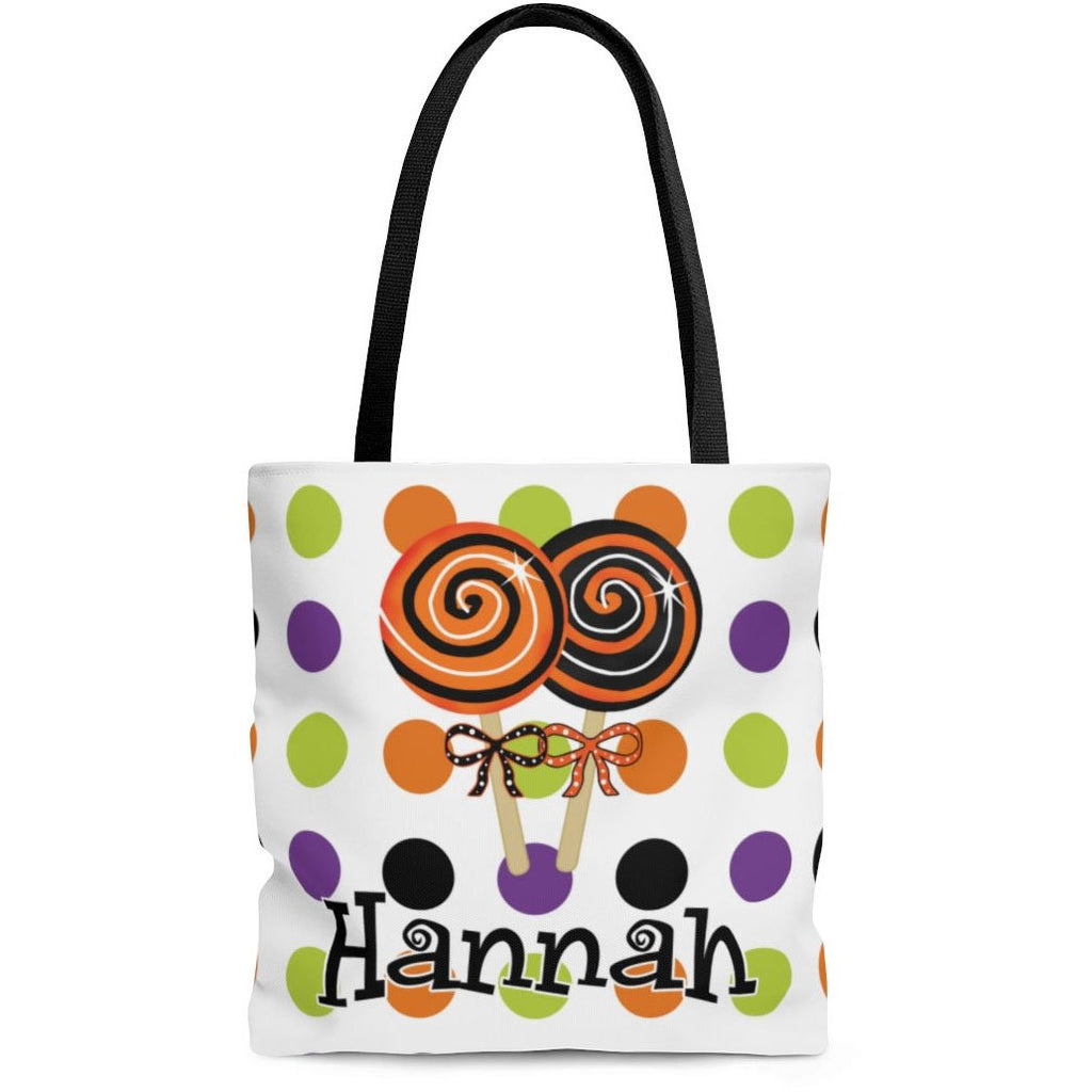 personalized halloween lollipops trick or treat bag