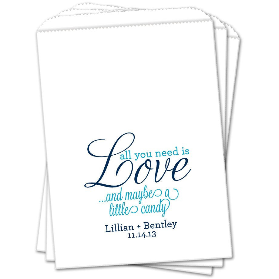 Love And Candy Wedding Favor Bags - Sets of 25 Wedding Favor Bags - INKtropolis