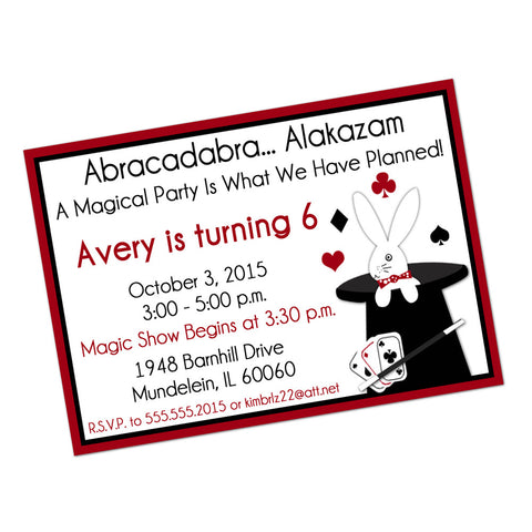 Magic Show Digital Birthday Invitation