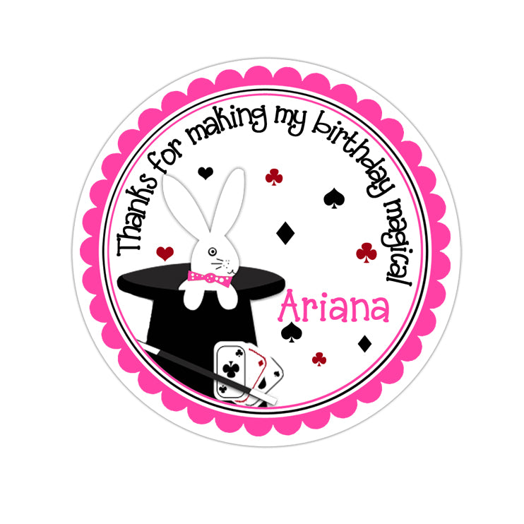 Magic Tricks Personalized Sticker Birthday Stickers - INKtropolis