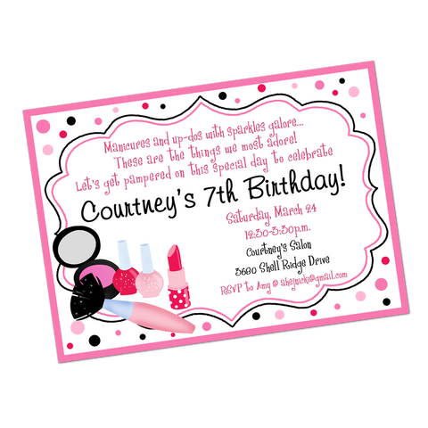 Makeover Digital Birthday Invitation
