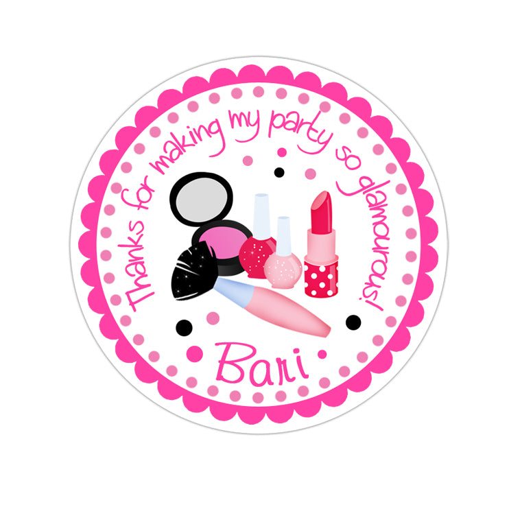 Makeover Personalized Sticker Birthday Stickers - INKtropolis