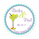 Margarita Personalized Sticker Wedding Stickers - INKtropolis