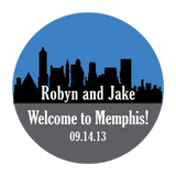 Memphis Tennessee Skyline Personalized Sticker Wedding Stickers - INKtropolis