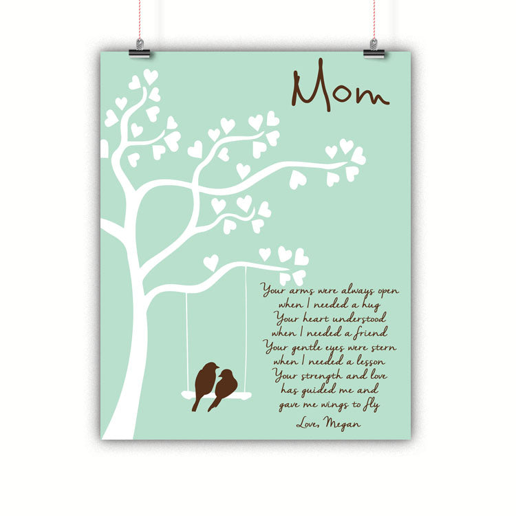 Tree Mom Gift, Thank you, Mother's Day Poster, Print, Framed or Canvas other art - INKtropolis