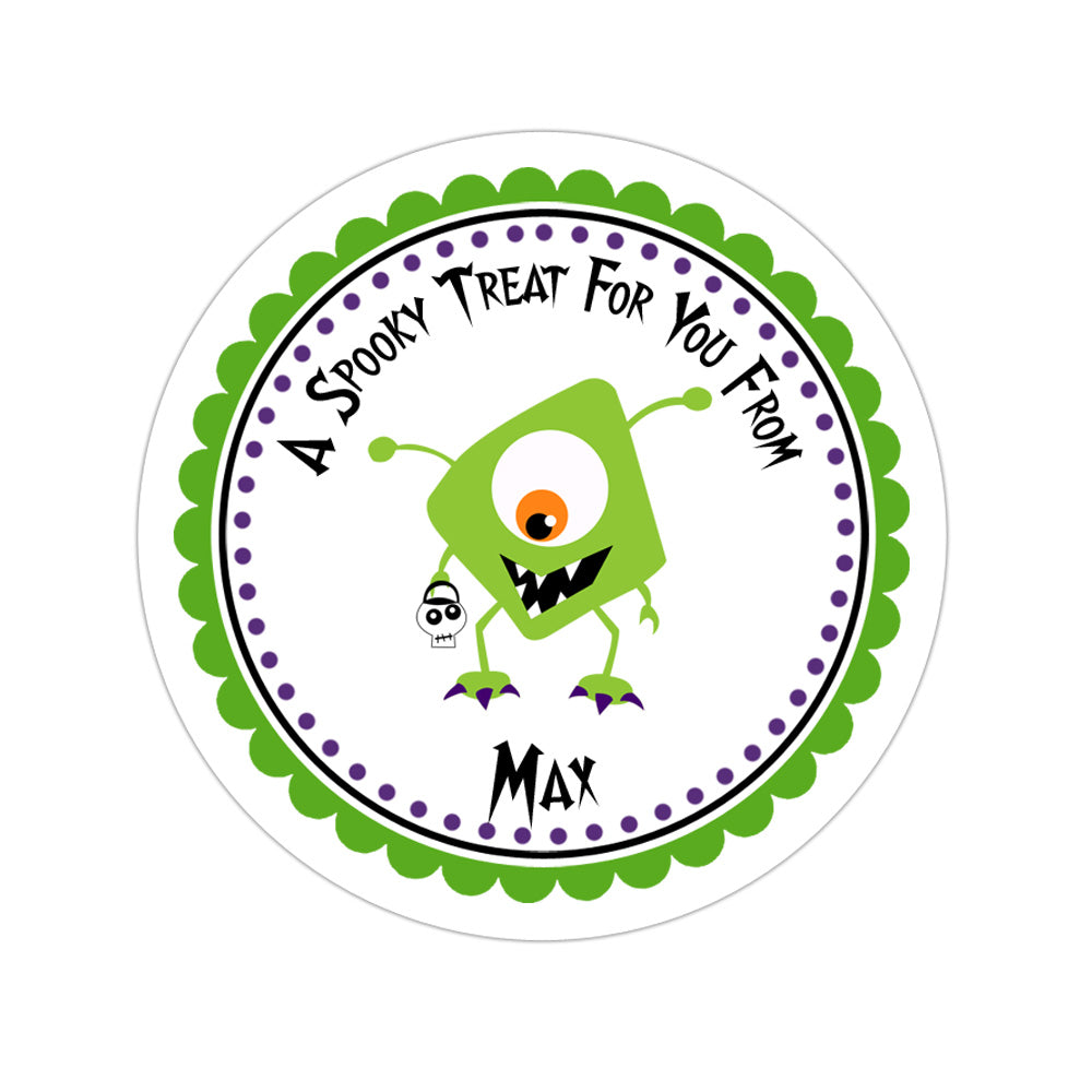 Cute Monster Personalized Sticker Halloween Stickers - INKtropolis