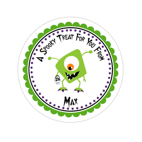 Cute Monster Personalized Sticker