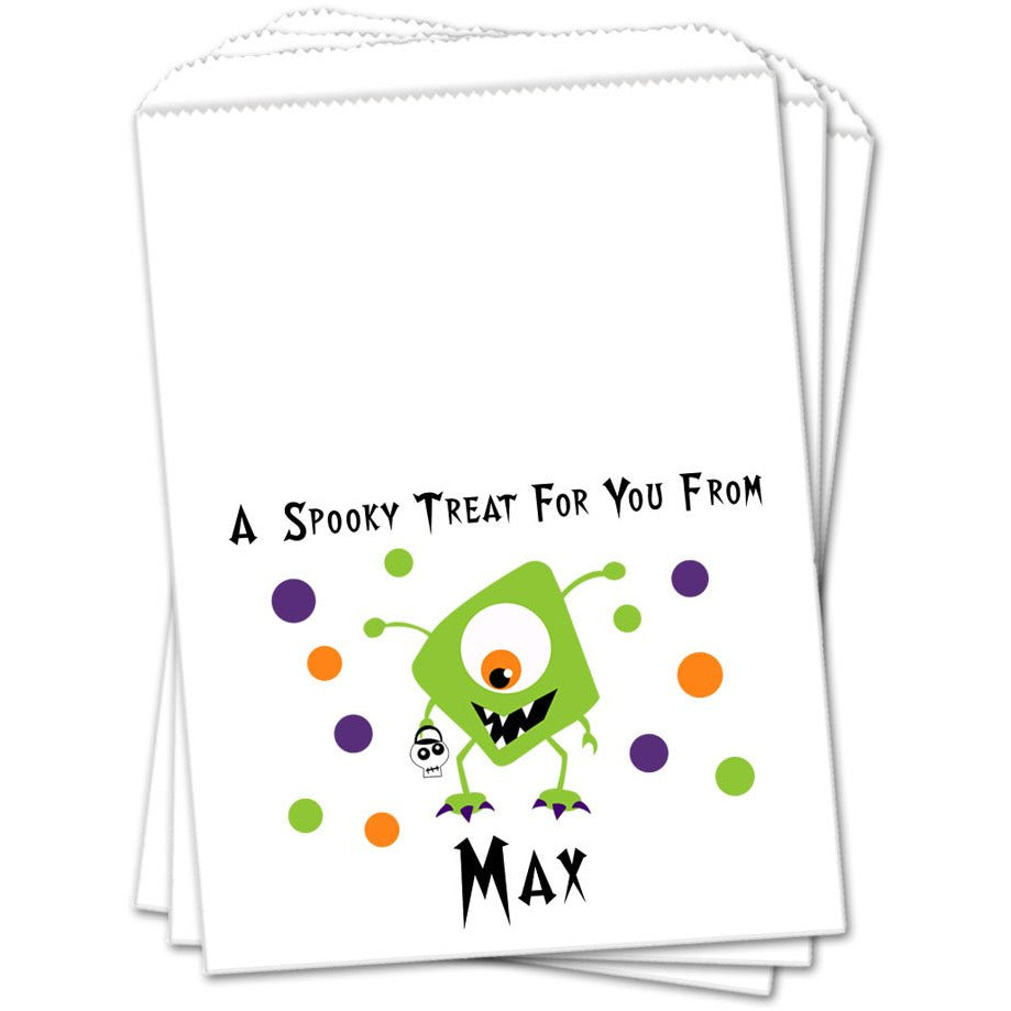 Green Monster Halloween Favor Bags - Sets of 25 Halloween Favor Bags - INKtropolis