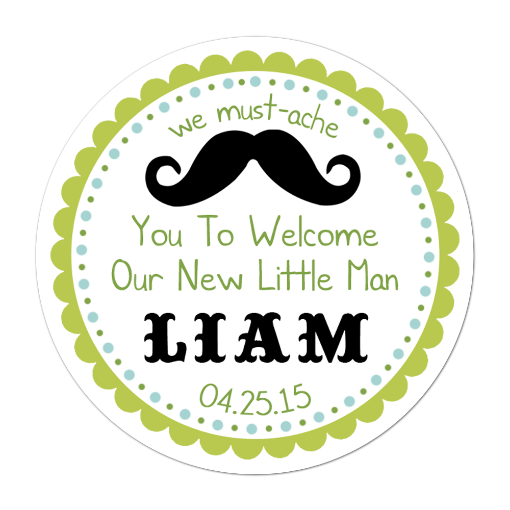 A little man is on his way baby shower stickers Lable 120pcs//set