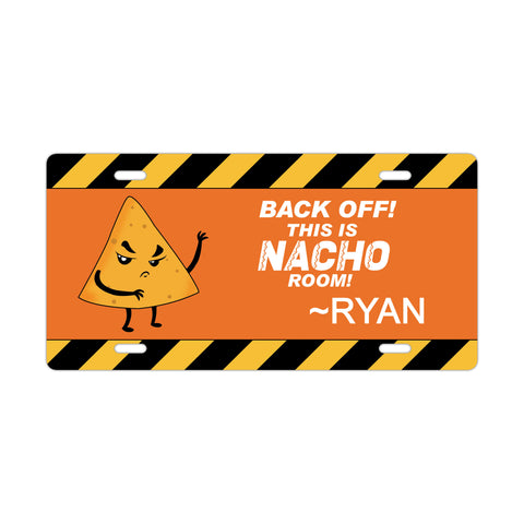 Personalized Nacho License Plate Sign - Kids Door Sign