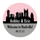 Nashville Tennessee Skyline Personalized Sticker Wedding Stickers - INKtropolis