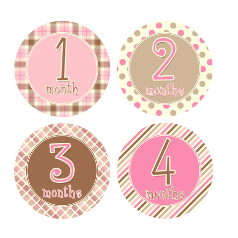 Neopolitan Monthly Baby Stickers