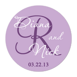 Cursive Monogram Personalized Sticker Wedding Stickers - INKtropolis