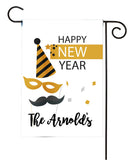 personalized new year celebration garden flag