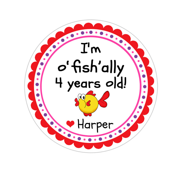 OFishally Personalized Sticker Birthday Stickers - INKtropolis