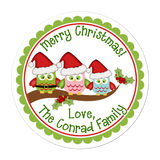 Owl Family Personalized Sticker Christmas Stickers - INKtropolis