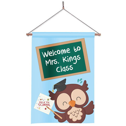 Personalized Classroom Flag - Teacher Flag - Classroom Decor - Owl Teacher