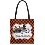 Personalized Halloween Trick Or Treat Bag, Kids Halloween Tote Bag - Owl Family