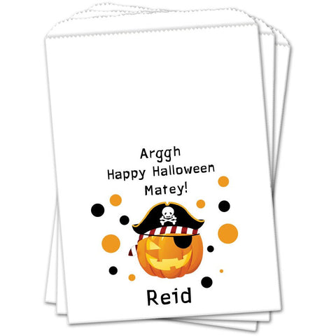 Pirate Jack O Lantern Halloween Favor Bags - Sets of 25