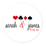 Gambling Vegas Style Personalized Sticker Wedding Stickers - INKtropolis