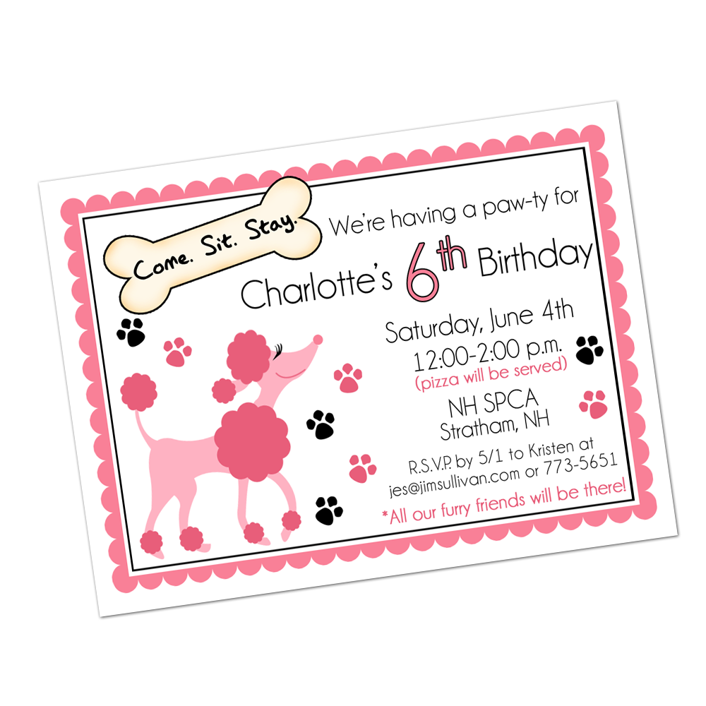 Poodle Digital Invitation Digital Invitations - INKtropolis