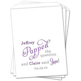 He Popped The Question Wedding Favor Bags - Sets of 25 Wedding Favor Bags - INKtropolis