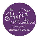 He Popped The Question Personalized Sticker Wedding Stickers - INKtropolis