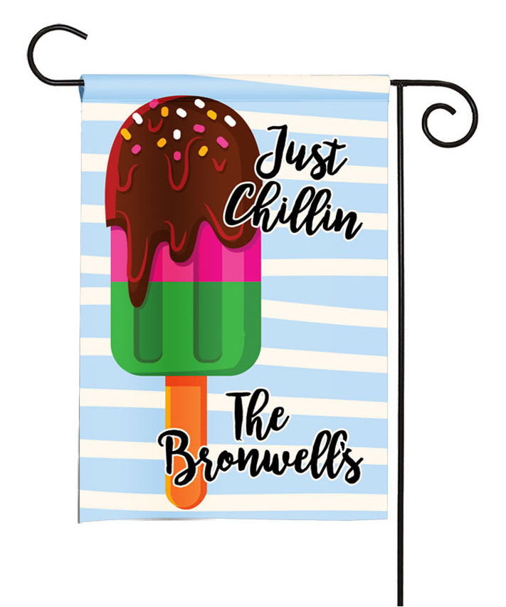 personalized popsicle summer garden flag