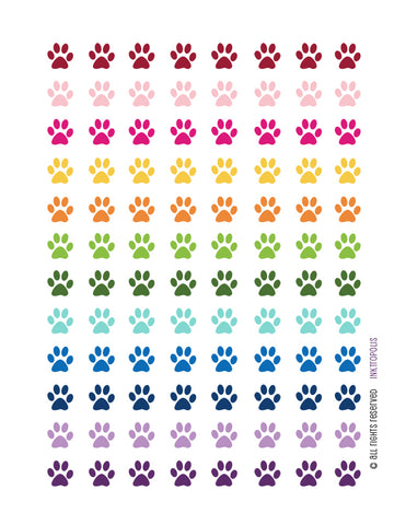 Monthly Planner Stickers Paw Print Stickers Planner Labels Erin Condren Planner Happy Planner