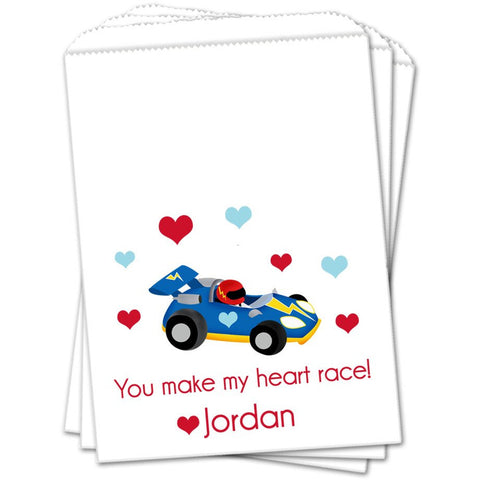 Race Car Valentines Day Favor Bags - Sets of 25