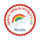 Rainbow Personalized Sticker Birthday Stickers - INKtropolis