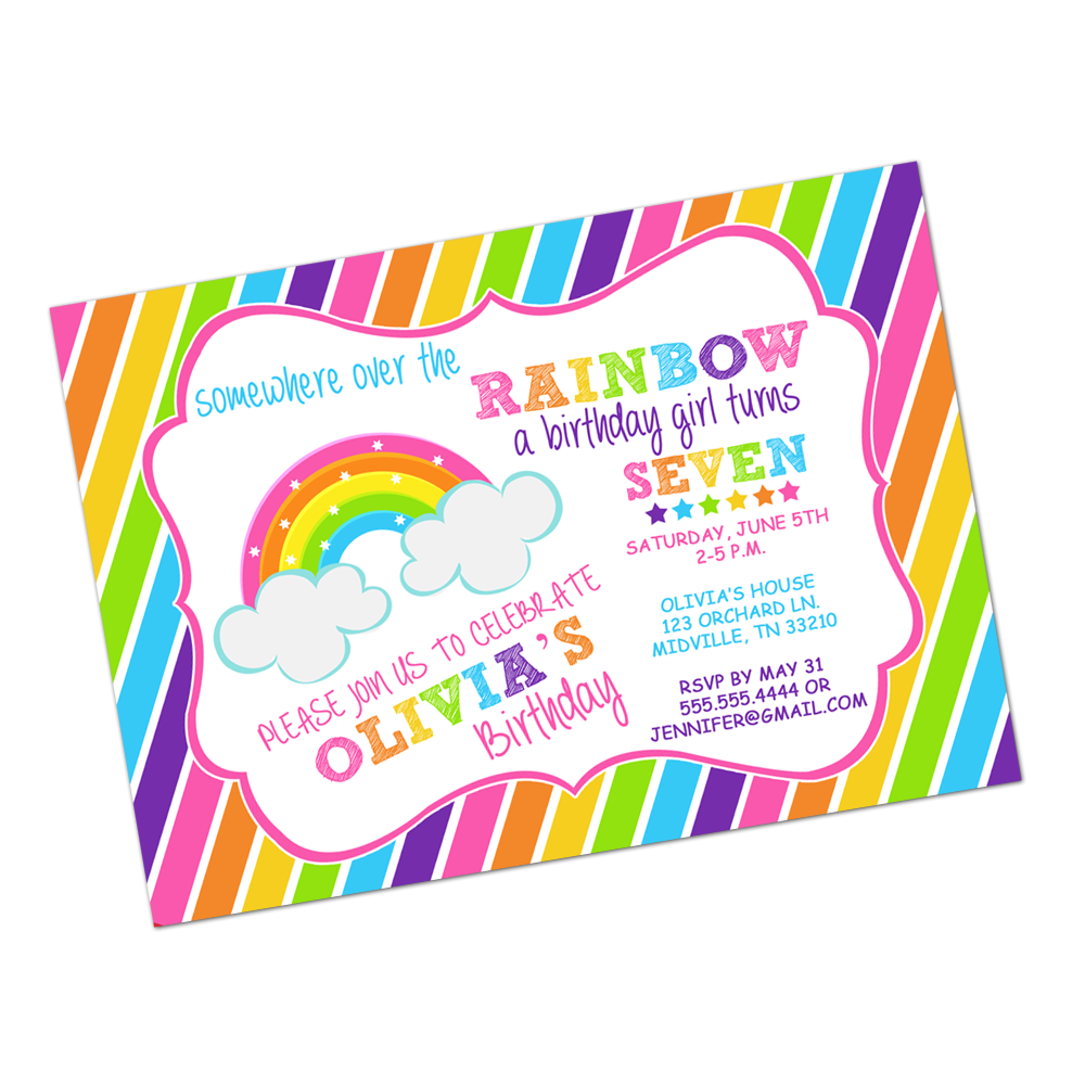 Rainbow Magic Brights Digital Invitation Digital Invitations - INKtropolis