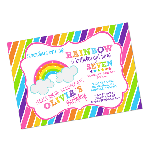 Rainbow Magic Brights Digital Birthday Invitation