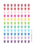 Monthly Planner Stickers Rainbow Recycle Bin Recycling Stickers Planner Labels Compatible with Erin Condren Vertical Life Planner planner sticker - INKtropolis
