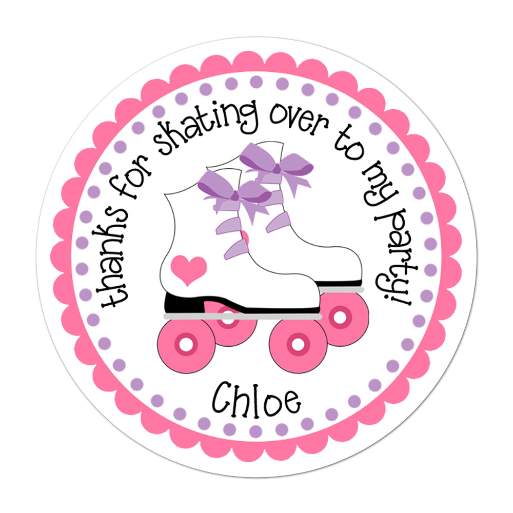 Roller Skate Personalized Sticker Birthday Stickers - INKtropolis
