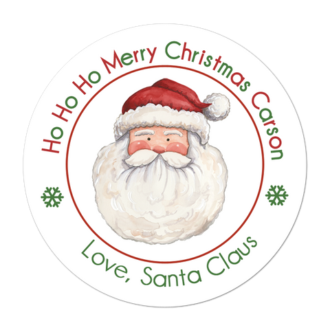 Santa Claus Face Christmas Gift Sticker