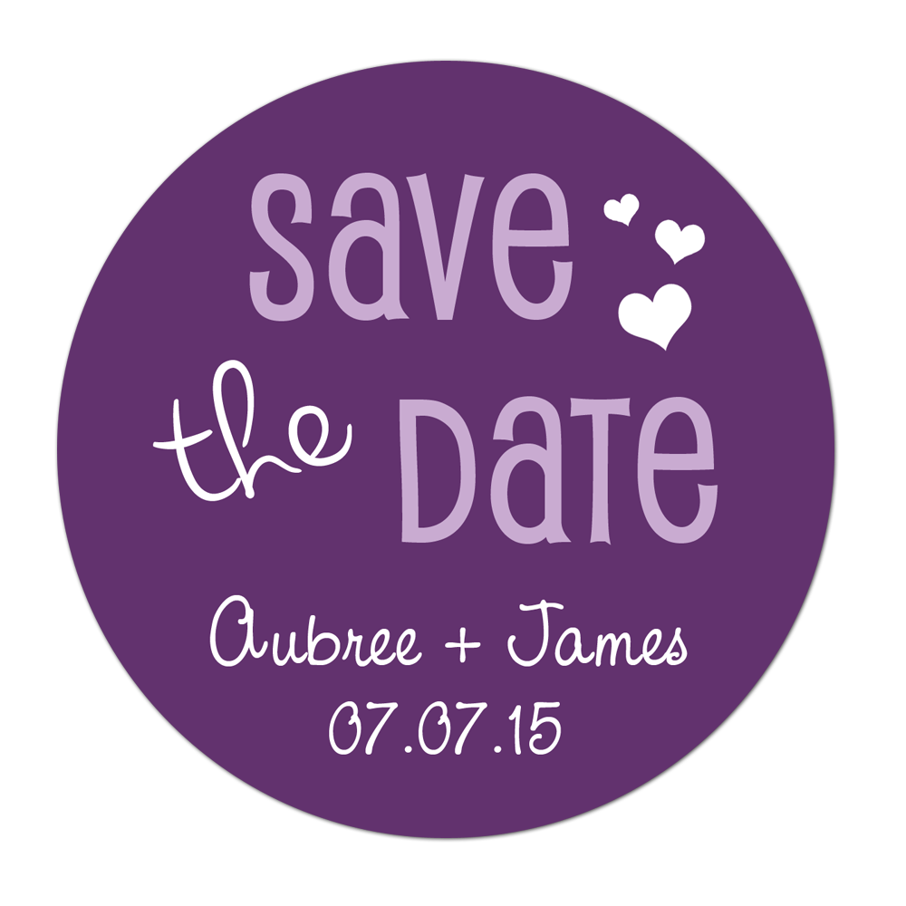 Save The Date Personalized Sticker Wedding Stickers - INKtropolis