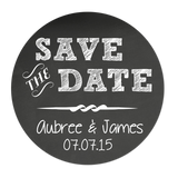 Save The Date Chalkboard Style Personalized Sticker Wedding Stickers - INKtropolis