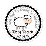 Black Sheep Personalized Sticker Baby Shower Stickers - INKtropolis