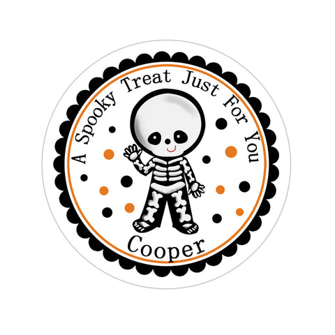Skeleton Costume Personalized Sticker