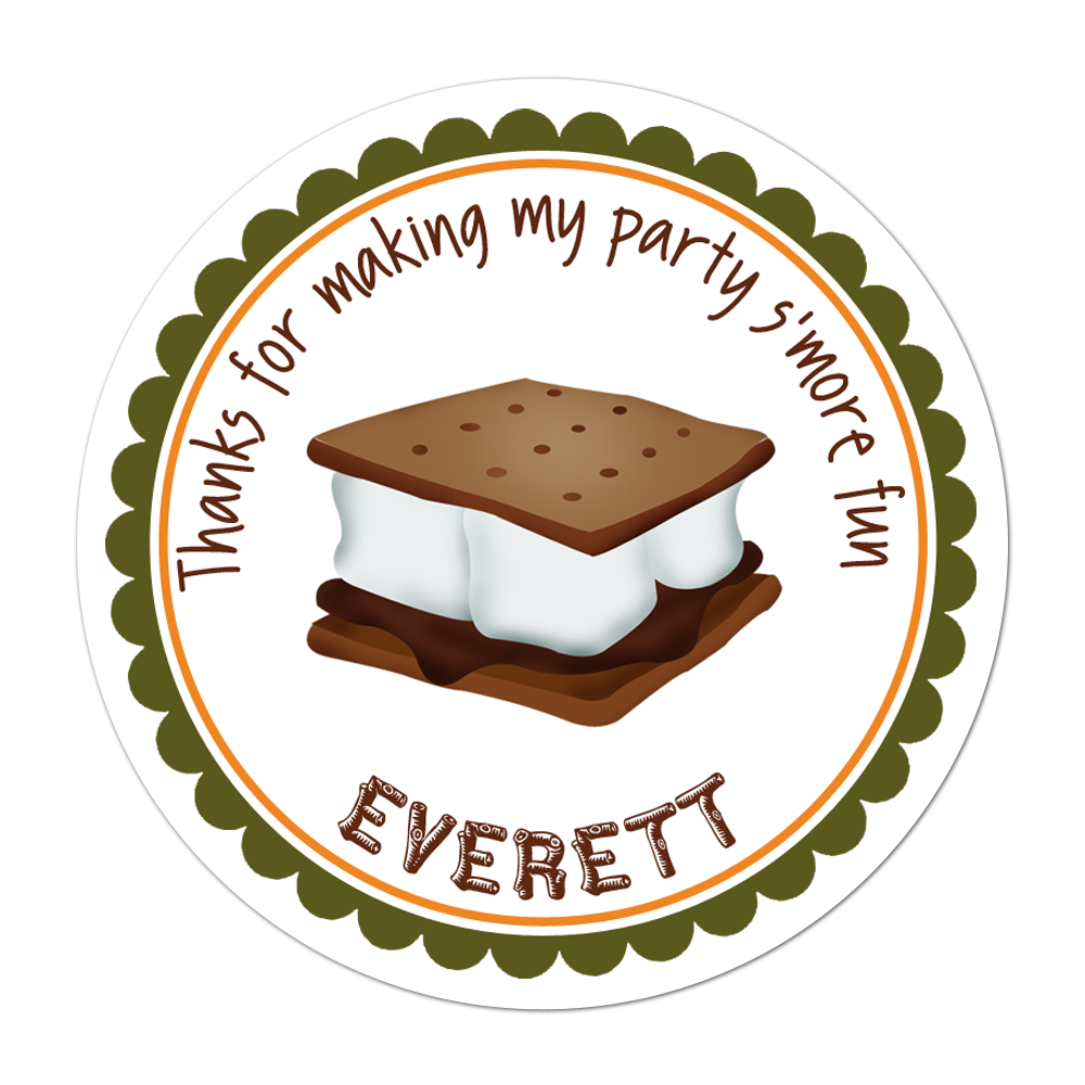 Smore fun personalized sticker