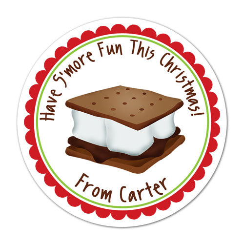 Holiday Smore Personalized Sticker Birthday Stickers - INKtropolis