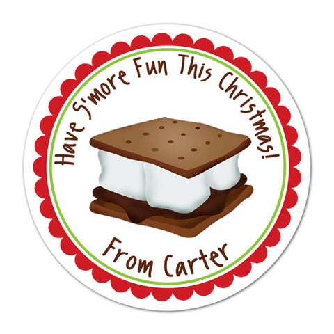Holiday Smore Personalized Christmas Gift Sticker