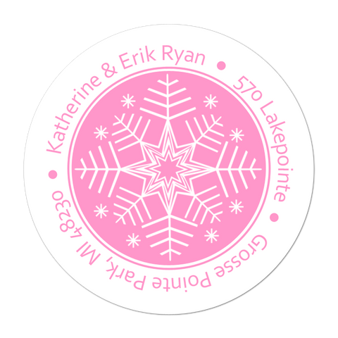 Snowflake Personalized Holiday Gift Sticker